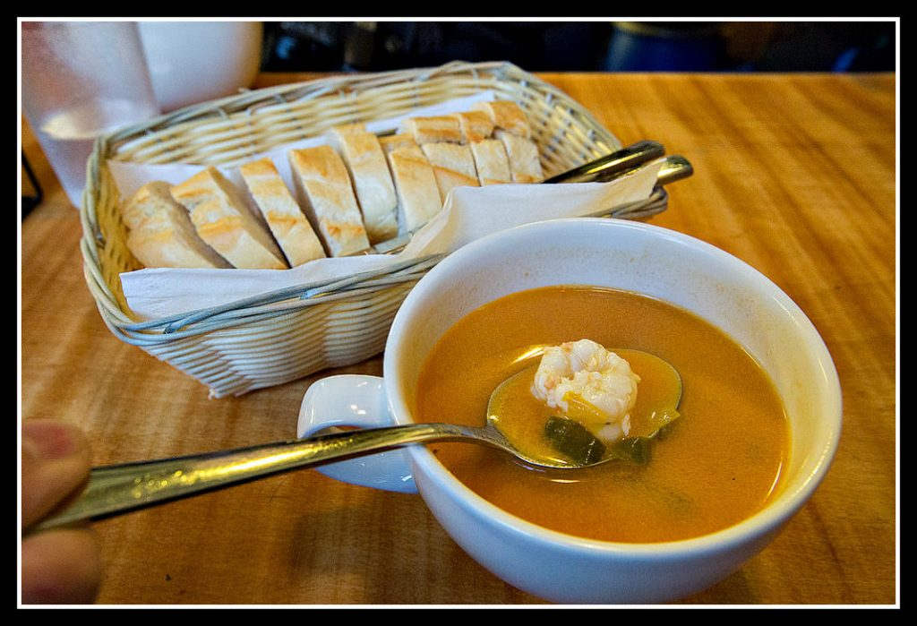 Icelandic lobster soup on a Reykjavik food walk