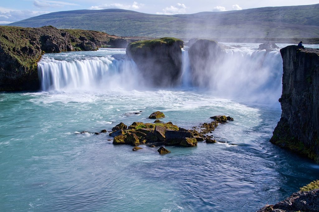 Goðafoss waterfall in north Iceland, personalized road trip plan