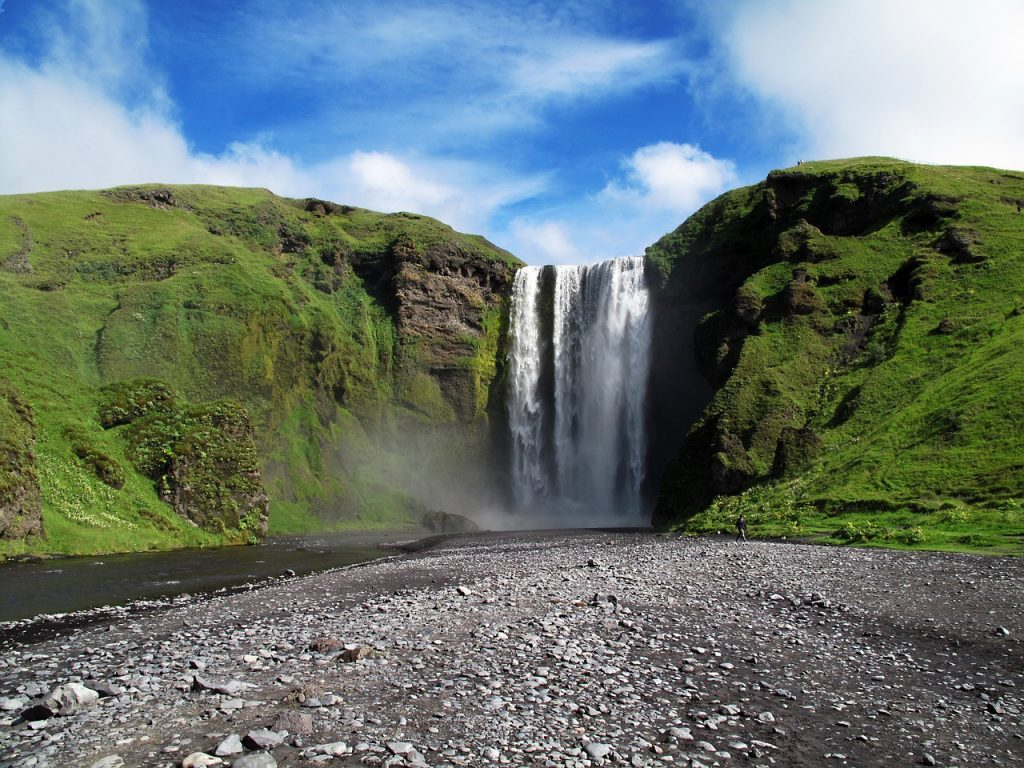 Skógafoss waterfall in south Iceland, personalized road trip plan