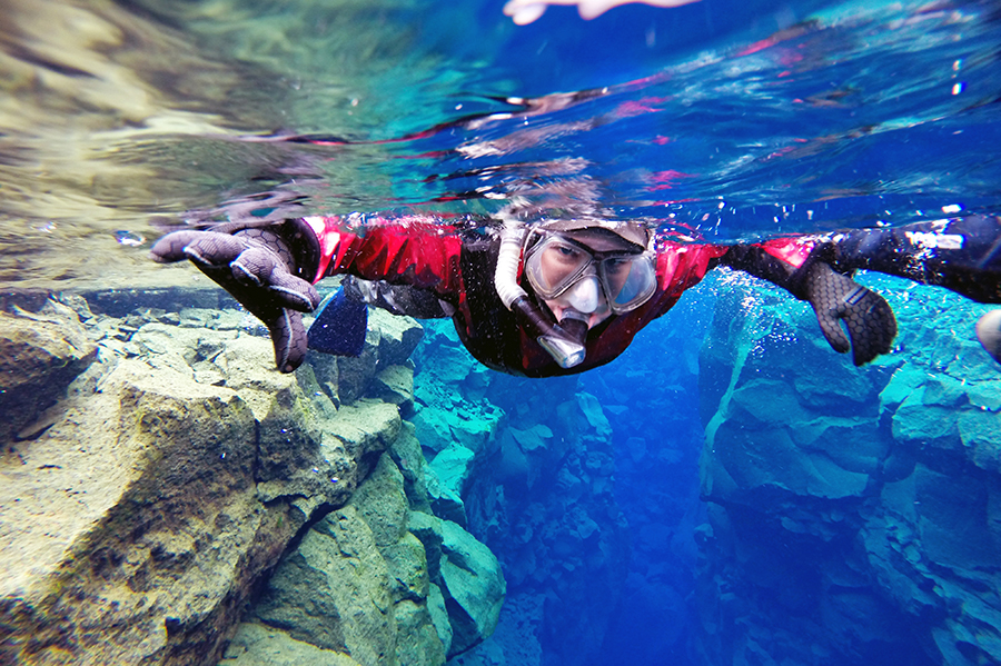 Snorkeling Silfra | Dry Suit with pick up in Reykjavik