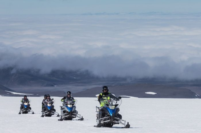 Snowmobile into the glacier – From Reykjavik