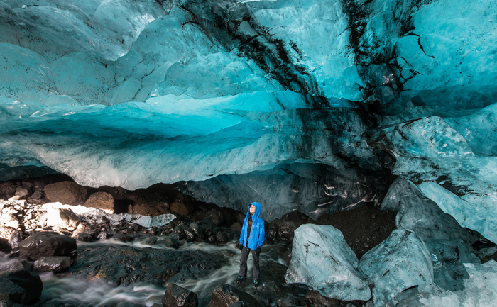 Dragon Queen Blue Ice Cave & Glacier Hike on Solheimajokull